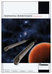 HARtMEtAll BOhRStANGEN Hartmetall Bohrstangen