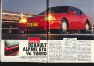 Renault Alpine GTA V6 Turbo - Car Magazine Blog