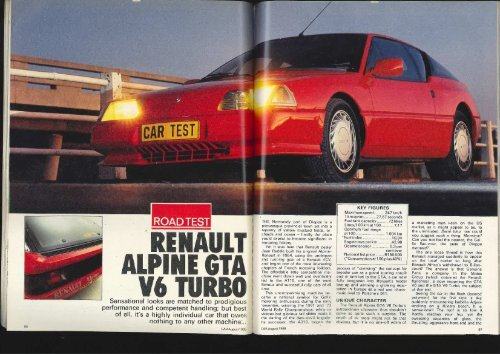 Renault Alpine GTA V6 Turbo - Car Magazine Blog