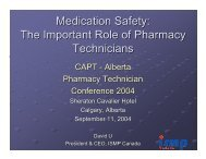 Medication Safety: The Important Role of Pharmacy ... - ISMP Canada