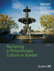 Report of the Task Force on Cultural Philanthropy - Ministère de la ...
