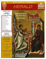 Saint Sophia Herald - Saint Sophia Greek Orthodox Cathedral