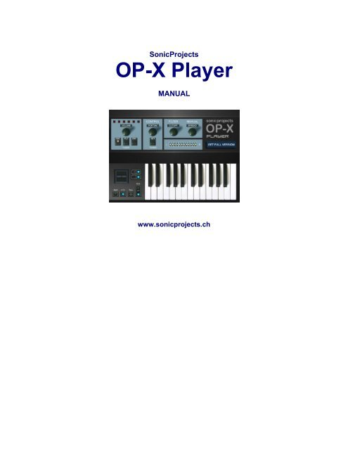 sonicprojects op-x pro ii patches