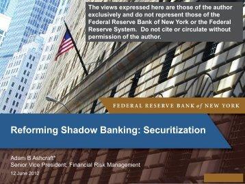 Regulation of Shadow Banking