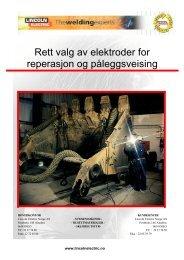 Rett valg av elektroder for reperasjon og ... - Sveiseeksperten