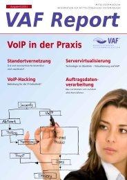 VoIP in der Praxis - VAF - Bundesverband Telekommunikation eV