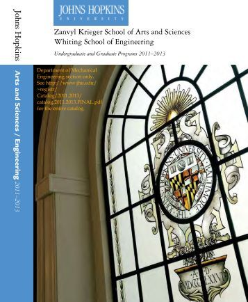 Course Catalog - Mechanical Engineering - Johns Hopkins University