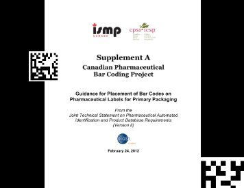 Supplement A - Guidance for Placement of Bar ... - ISMP Canada