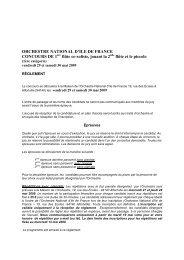 ORCHESTRE NATIONAL D'ILE DE FRANCE CONCOURS DE 1 ...