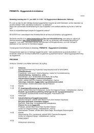 FREMSYN - Byggeteknik & Arkitektur - Byg-Erfa
