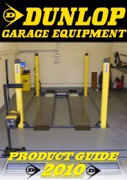 PRODUCT GUIDE - dunlop garage equipment
