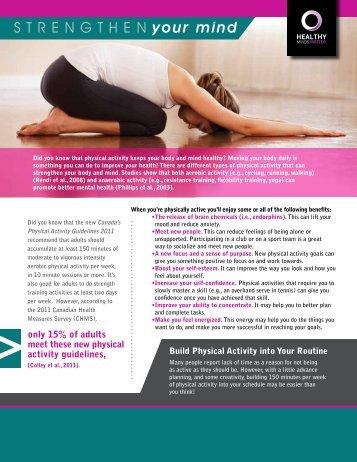 Strengthen Your Mind (pdf) - City of Windsor Wellness