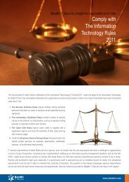 Comply with The Information Technology Rules ... - BalaBit IT Security