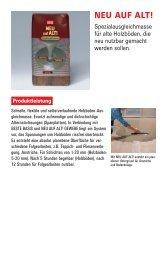 NEU AUF ALT! Spezialausgleichmasse für alte Holzböden ... - Lugato