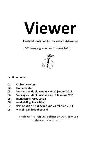 helft 2011 - Smalfilm en videoclub Lumière Eindhoven
