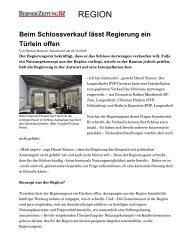 Amthaus und Schloss Aarwangen - Daniel Steiner-Brütsch