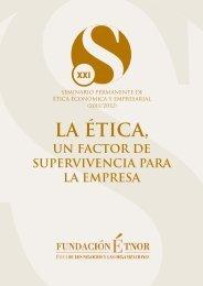 La ética: un factor de supervivencia - Fundación Étnor