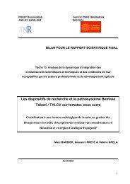 Les dispositifs de recherche et le pathosystème ... - INRA Montpellier