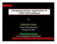 Designing Surface Application of OSSF W/W Effluent - Clifford B ...