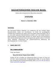 BAUUNTERNEHMER REGION BASEL - Vbrb.ch