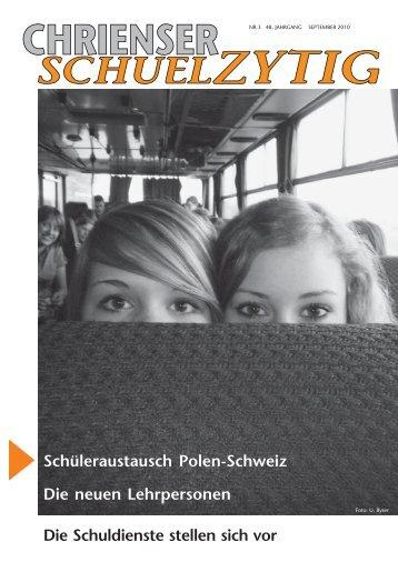 Chrienser Schuelzytig - marabu bild & text