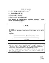 EDITAL DE LICITAÇÃO Modalidade: PREGÃO ... - Fapemig