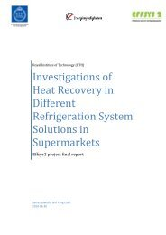 Investigations of Heat Recovery in Different Refrigeration ... - effsys 2