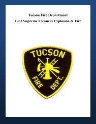 Tucson Fire Department 1963 Supreme Cleaners Explosion & Fire