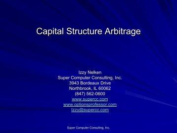 Capital Structure Arbitrage - Super Computer Consulting, Inc