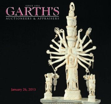 January 26, 2013 - Garth's Auctions, Inc.