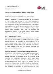 CES 2012: LG stellt weltweit größten OLED-TV vor - LifePR.de