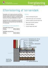 Efterisolering af terrændæk - Videncenter for energibesparelser i ...
