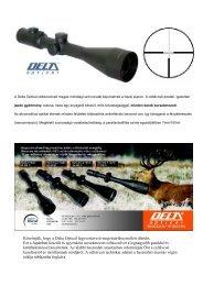 Köszönjük, hogy a Delta Optical fegyvertávcső ... - Teleskop