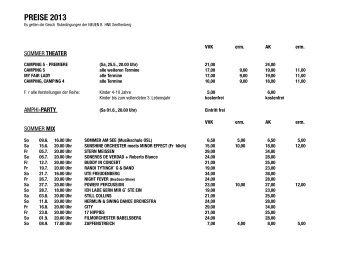 Preisliste 2013 - Theater Senftenberg