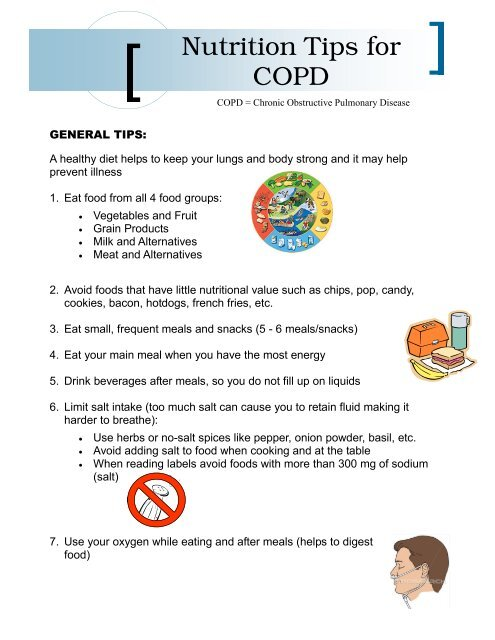 Nutritional Tips for COPD - Chronic Disease Network & Access