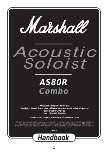 Acoustic Soloist AS80R Handbook - Marshall