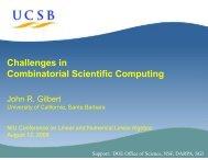 Challenges in Combinatorial Scientific Computing - Department of ...