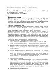 Zápis z jednání Akademického senátu FF OU ze ... - Filozofická fakulta
