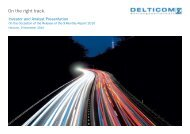 Investor and Analyst Presentation of the 9-Monthly ... - Delticom AG