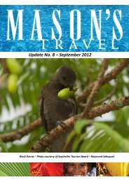 Update No. 8 – September 2012 - Masons Travel