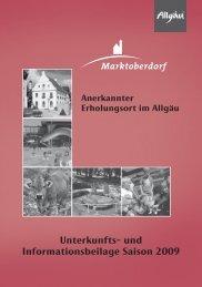 Unterkunfts- und Informationsbeilage Saison 2009 - Stadt ...