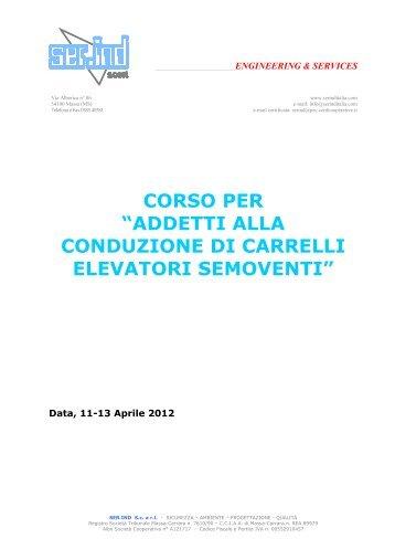 ADDETTI ALLA CONDUZIONE DI CARRELLI ELEVATORI ...