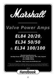 Rack Valve Power Amps Handbook - Marshall