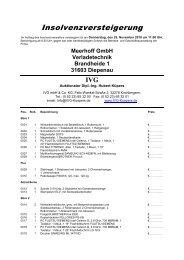 Meerhoff GmbH Verladetechnik Brandheide 1 ... - IVG mbH & Co. KG