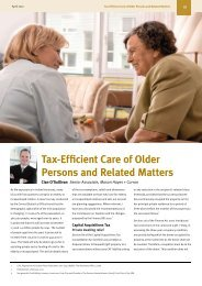 Tax-Efficient Care of Older Persons and Related Matters