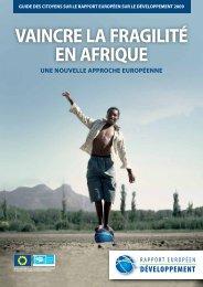 VAINCRE LA FRAGILITÉ EN AFRIQUE