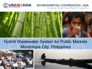 Wastewater Treatment for Public Markets - WEPA
