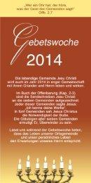 Gebetsprogramm 2014 DE - Missionswerk FriedensBote