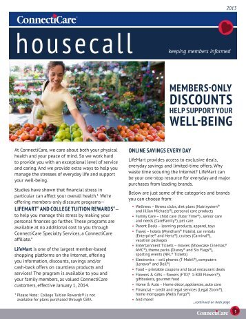 Housecall Newsletter - ConnectiCare