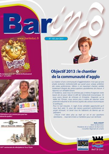 Objectif 2013 : le chantier de la communauté d'agglo - Bar-le-Duc